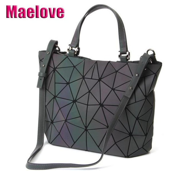 Maelove Luminous Bag 2019 Women's Geometric Diamond Tote Fashion Folding Bag Luxury Handbags Women Bags Designer J190712