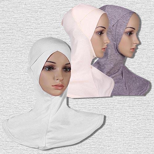 Copricapo islamico con cappuccio a cappuccio con cappuccio islamico in hijab di cotone con cappuccio integrale Underscarf