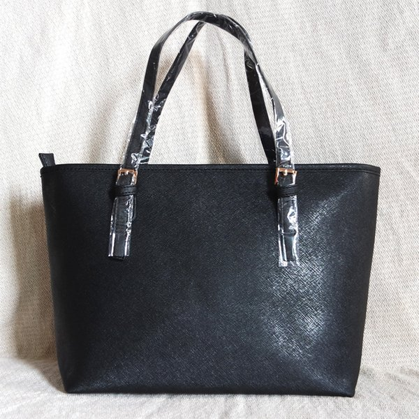 Moda de alta qualidade famosa marca mulheres casuais sacola de viagem jet set PU bolsas de couro