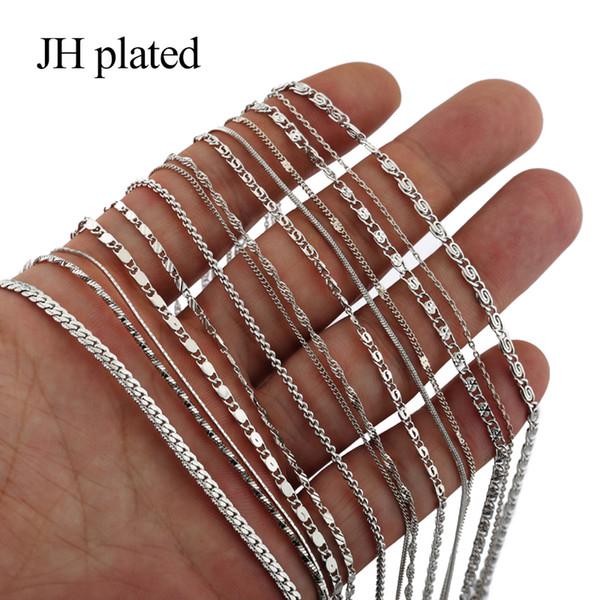 JHplated African fashion Men Collares longitud de la joyería 45cm Collares de color plateado Las mujeres le dan a sus amigos Joyas Regalo de cumpleaños