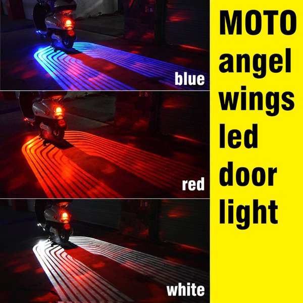 OKEEN 2pcs 12V LED Car Angel Wings lights LED welcome Car Door Projector Light Ghost Shadow Puddle 12V White /Red/Blue/ Green