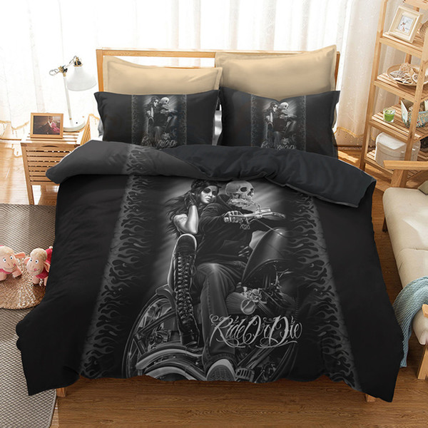 Green Dragon Skull 3D Quilt Duvet Doona Cover Set Single Double Queen King Print