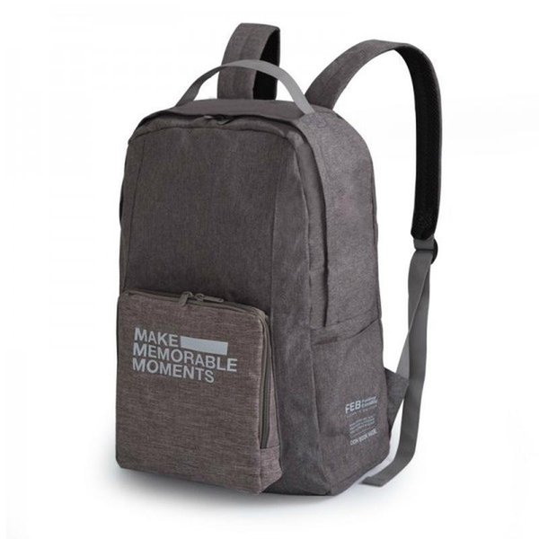 New Ultralight Unisex Polyester Backpack Simple Portable Folding Travel Backpack Men And Women Luggage Bag 2Colors