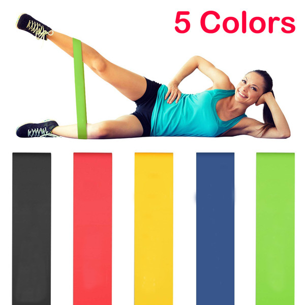 Resistance Loop Exercise Bands Yoga Pilates Band Home Equipment Physical Therapy Fitness Training Latex Workout Bands for Women Men M225F