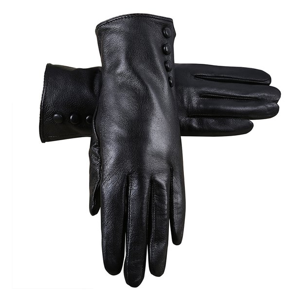New Style Leather Gloves Women Winter Gloves Really Fur sheepskin leather Warm Fur Women