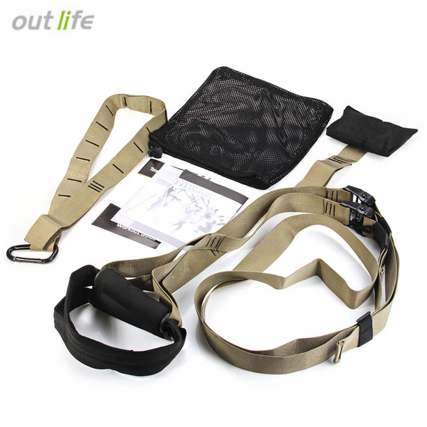 Outlife Yoga Fitness Bands Hanging Belt Tension Resistance Bands Pull Rope Home Exerciser Training Body Building Banda di resistenza