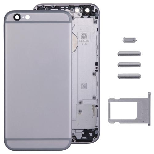 Einpassung For iPhone 6 Metal Battery Door Aluminum Housing Middle Frame OEM no reason to return with small parts and side button