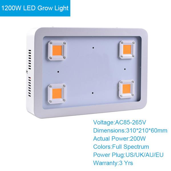 1200W LED crece la luz