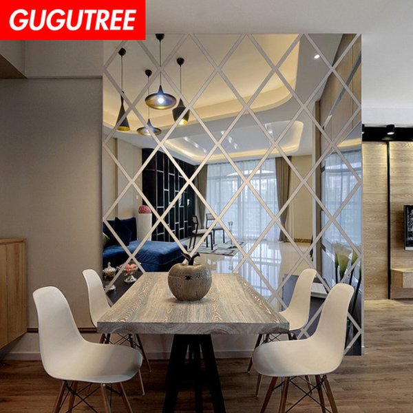 Decorate Home 3D geometry cartoon mirror art wall sticker decoration Decals mural painting Removable Decor Wallpaper G-240