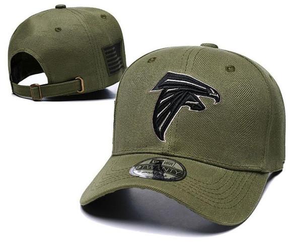 2018 Atlanta Adjustable hats Falcons Salute to Service Sideline Therma Performance Snapback Hoodie Olive Baseball Caps