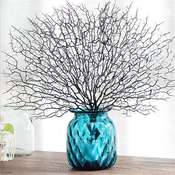 Simulation Tree Branch White Coral for Wedding Decoration Home decoration Artificial Peacock Coral Branches Plastic Dried Branch Fake plants