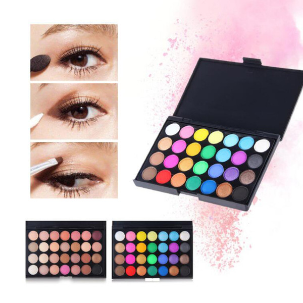 28 colors bead/matte/blend eyeshadow durable waterproof and non-smudge with eye shadow brush combination