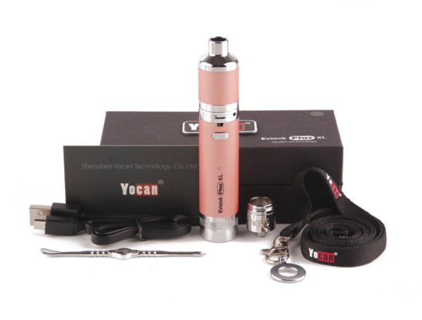 Yocan Evolve Plus XL Starter Kit Воск испарителем Pen 1400mAh батареи Vape Dab Pen комплекты с Silicon Jar Quad Quartz Coil Огромный Vapor