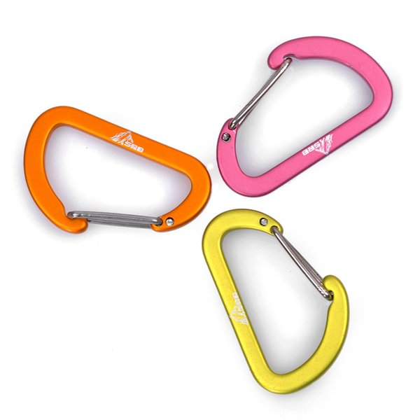 4cm Flat Type Mountaineering Buckle Outdoor Camping Hanging Hook Aluminum Alloy Keychain Security Carabiner 40mm*35mm ZZA1053