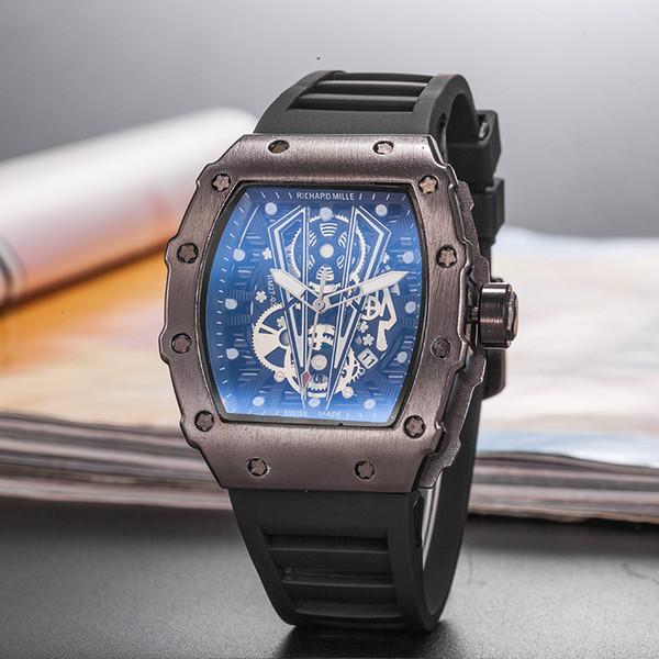 2019 novo estilo de lazer marca richard moda esqueleto relógios homens ou mulheres crânio esporte relógio de quartzo big bang esporte relógios de quartzo