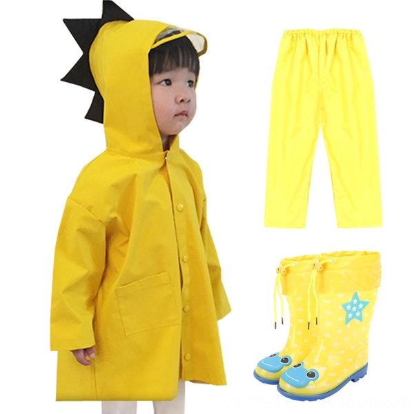 Dinosaur Yellow Pants Raincoat + Pioggia +