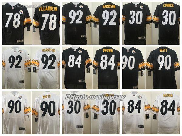 9fe3e05de07 Men Pittsburgh Steelers Jersey 90 T.J. Watt 84 Antonio Brown 7 Ben  Roethlisberger 30 James Conner