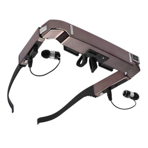 VISION-800 Akıllı Android WiFi Gözlük 80 inç Geniş Ekran ile Taşınabilir Video 3D Gözlük Özel Tiyatro Kamera Bluetooth Medi