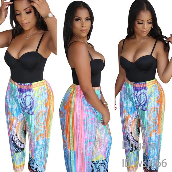 Damen Designerhose Paisley Vortex Swirl Pattern Damen Fashion Hose Joker Plissee Hose