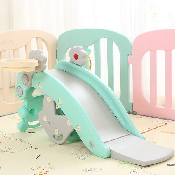 Giochi per bambini Multi-funzione Slide Rocking Horse giochi al coperto Ring game Basket per bambini Slides Ride Horse Baby Birthday Toys Gift