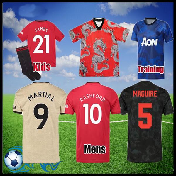 19 20 Player version manchester Jersey soccer fans Pogba United 2019 2020 LINGARD Rashford le football chemise uniformes UTD homme des femmes des enfants kit