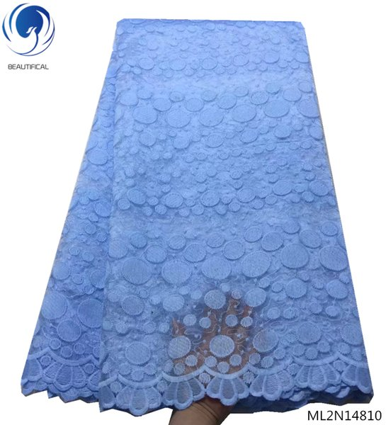 2019 High Quality Nigerian Lace Fabrics Latest Mesh African Lace Fabric Bride Guipure French Net Lace Fabric ML2N148
