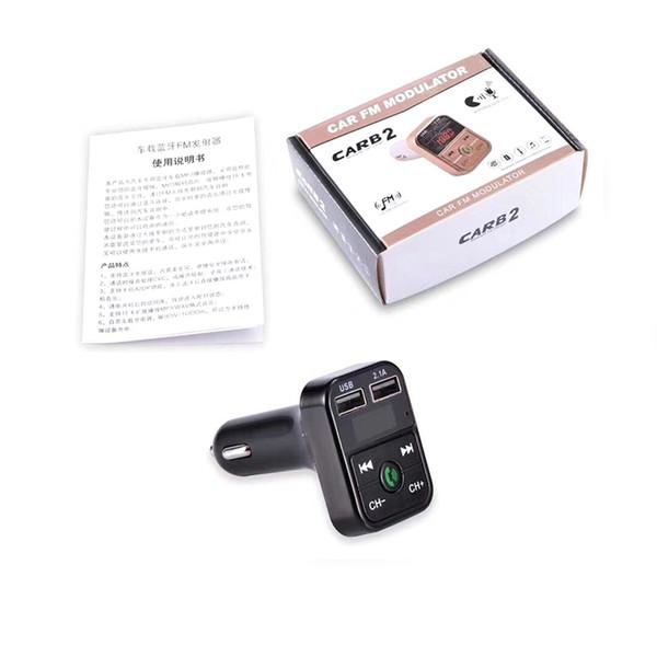 KELIMA Chargeur allume-cigare pour transmetteur FM sans fil Bluetooth