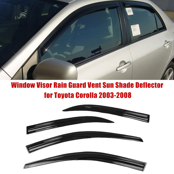 Автомобиль Styling Window Visor Rain Guard Vent ВС Shade Отражатель для Toyota Corolla 2003-2008