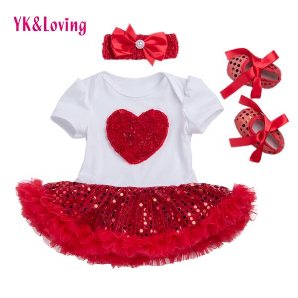 Summer Girl Dress Sequin Short Sleeve Tutu Dresses Newborn Girl Clothes Set Lovely Beautiful Princess Clothing For Kids Z433 Y19061101