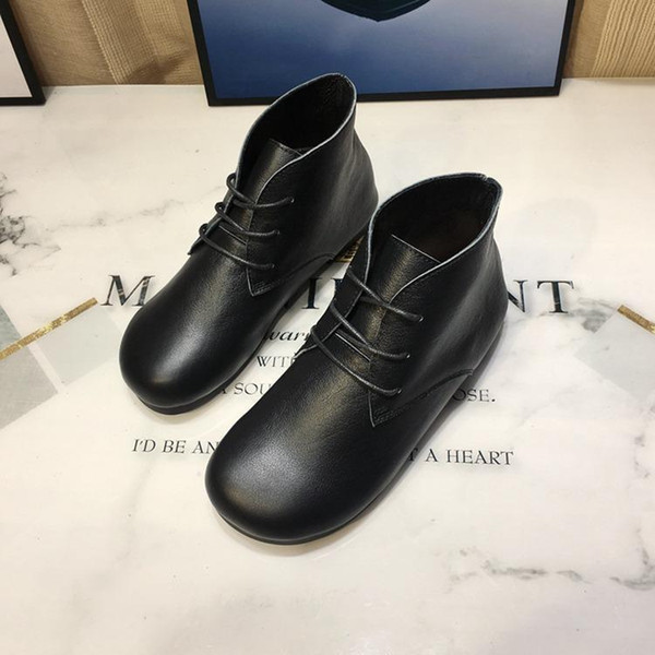 Designer Autumn and Winter 2019 Handmade Shoes Sunny Shoes01 Literature and Art Wholesale of Leather Martin Shoes Leisure and Warm Boots