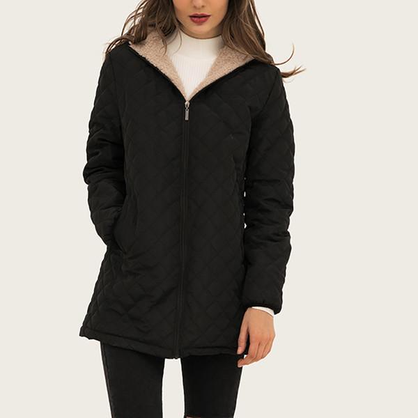 winter warm women parkas 2019 new fleece slim warm female jacket coats plus size korean women basic long overcoats