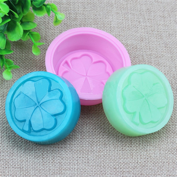 Single Clover Round Cake Mould silicone Easy To Clean Soap Molds Pink Food Grade Rectangle Baking Products New 1hpC1