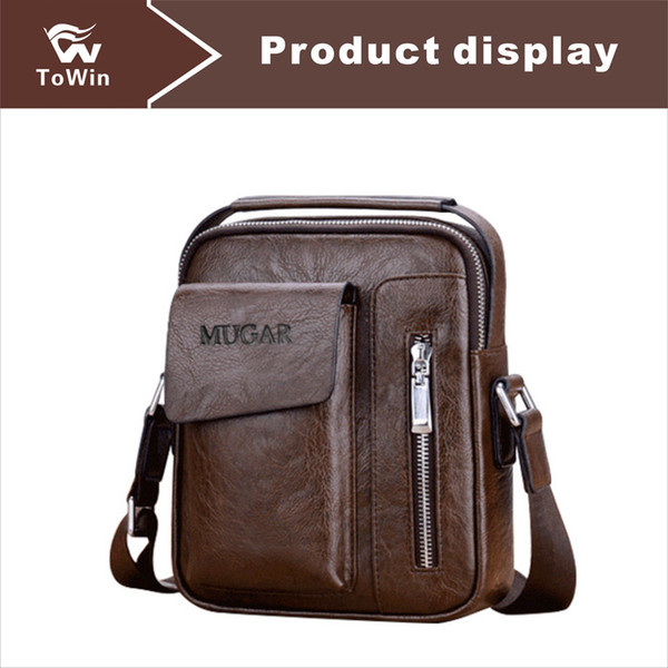 quality microfiber leather man briefcases portable handbag casual shoulder bag messenger bags wallet business crossbody bag ing