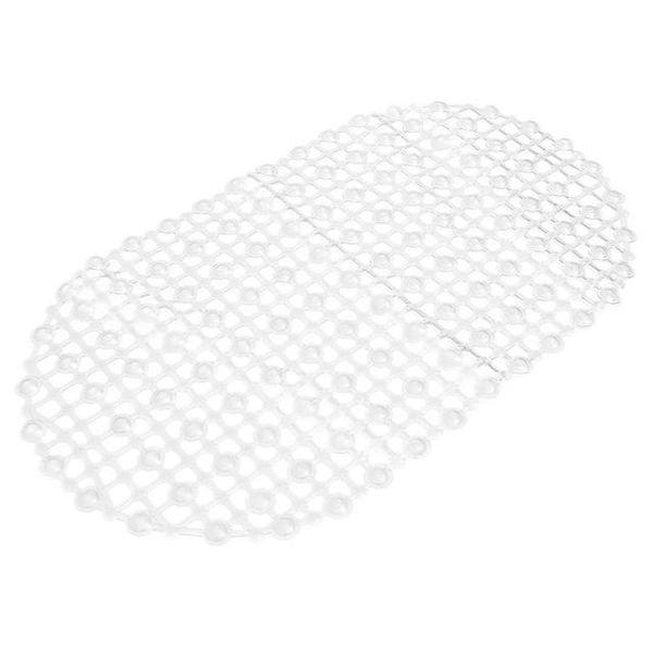 Wholesale- PVC Strong Non Slip Bathroom Bath Floor Shower Tub Mat Massage Pad Suction Cup white