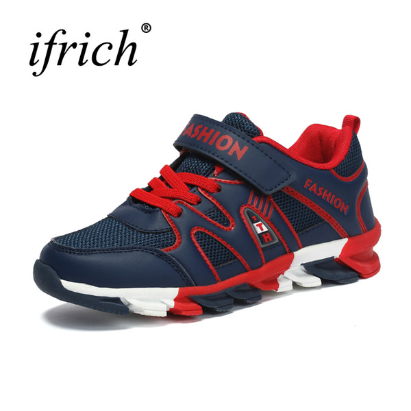 2019 New Cool Kids Boys Shoes Girls Lace Up Teenager Trainers Sport Blue Sneakers Wearable Walking Shoes Children Girl Gym Shoes Basketball Shoes From