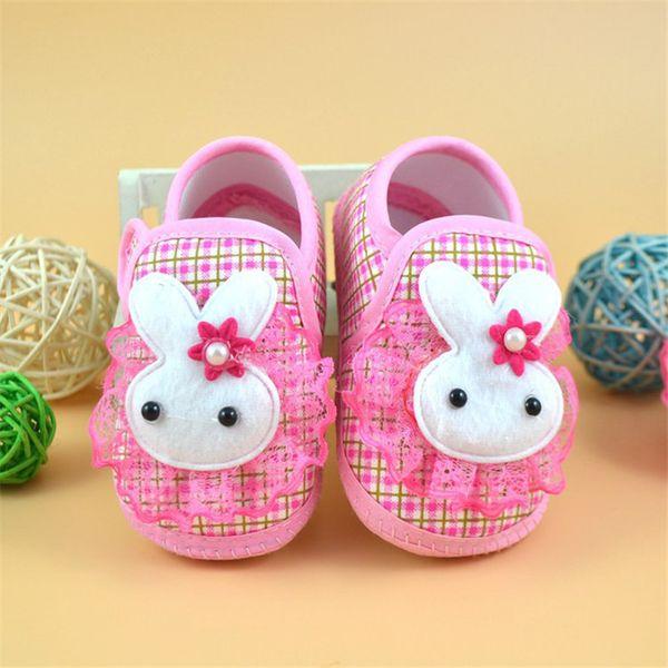 Baby Shoes Newborn Girl Boy Cartoon Rabbit Soft Sole Crib Toddler Shoes Canvas First Walker NDA84L24