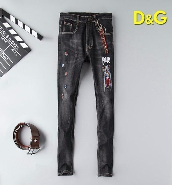 Jeans elasticizzati personalizzati ricamati Jeans uomo 19 Autunno Moda Europa e America New da uomo 702 56883041
