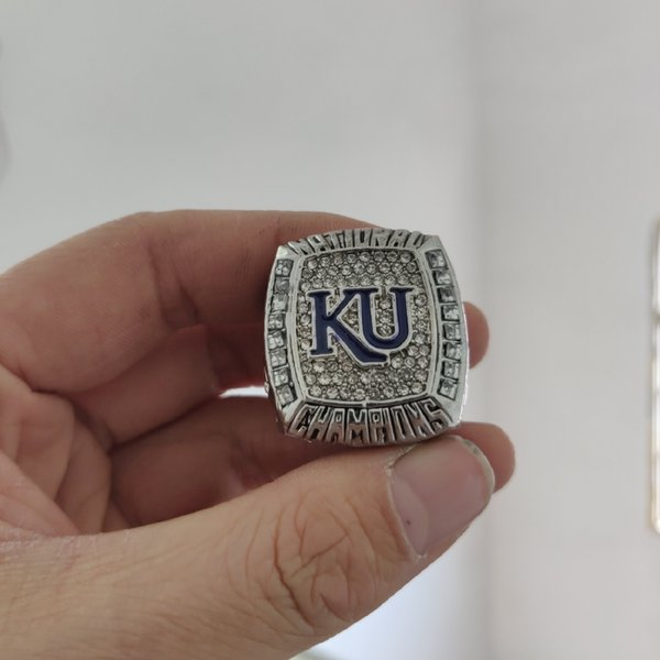 2019 wholesale 2008 Kansas Jayhawks National Championship Ring Give gifts to friends
