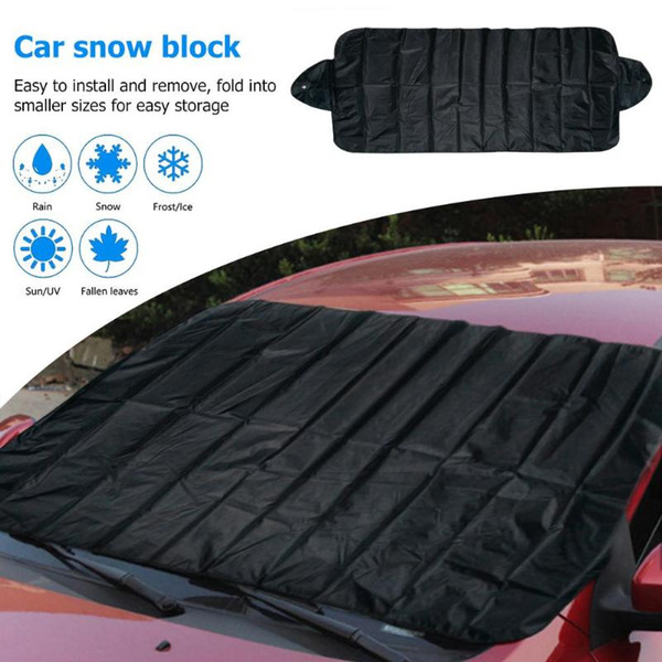 top popular Winter Outdoor Car Windshield Protector Cover Snow Ice Shield Protector Front Rear Windscreen Sun Shade Covers 2020