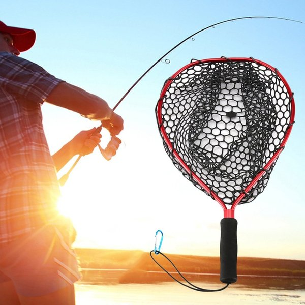 35/43cm Aluminum Alloy Dip Net Anti-hanging Rubber Dip Net Squid Road Asia Scratch-resistant Large Load-bearing