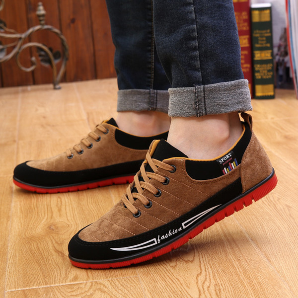 New Four Seasons Men's Fashion Tide Men's Shoes Breathable Low To Help England Casual Shoes Old Beijing Cloth