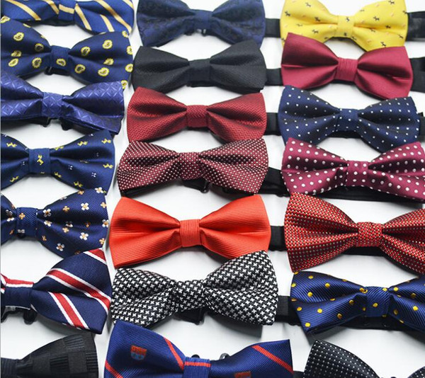 top popular Men's Business Suit Bow Ties British Korean Suit Bowtie 72 Colors Elegant Adjustable Jacquard Weave Polyester Bow Ties 2020