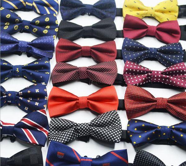 Herrenanzug Fliege Britisch-koreanische Anzugfliege 72 Farben Elegant verstellbare Jacquard-Webart Polyester