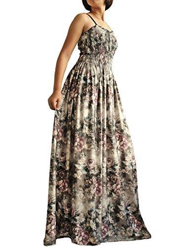 Frauen lange maxi plus größe dress weihnachten abend party hochzeit boho prom klassische floral vintage look