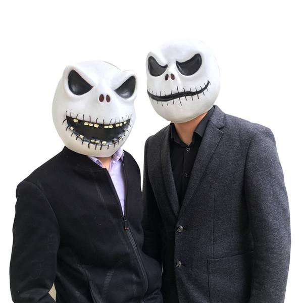 Kabus Önce Noel Jack Cosplay Maske Tam Kafa Maskeleri Lateks Karikatür Karnaval NOEL Parti Kostüm Sahne