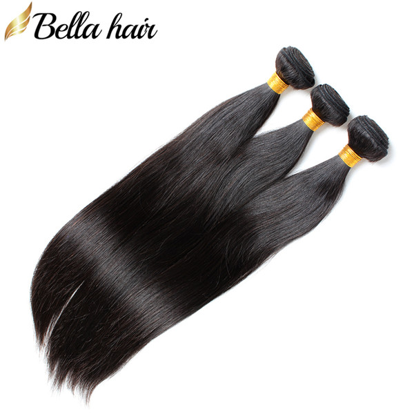 best selling Peruvian Virgin Human Hair Bundles Silky Straight Weaves Human Hair Weft Extensions 3pc Double Weft Natural color Bella Hair