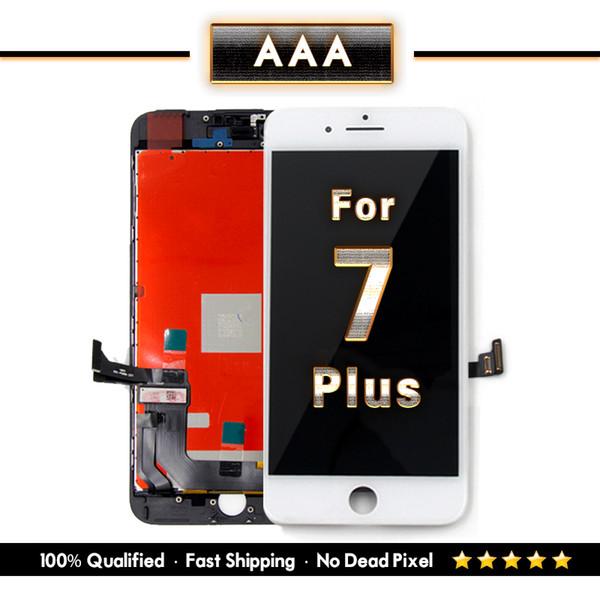 Para iPhone 7 Plus Reemplazo de pantalla con 3D Touch Digitalizar Ensamblaje Negro Blanco Mezclar color Envío Gratis