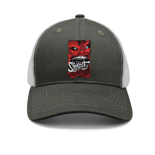 Slipknot Red mask army-green mens and women trucker cap ball styles fitted personalized hats