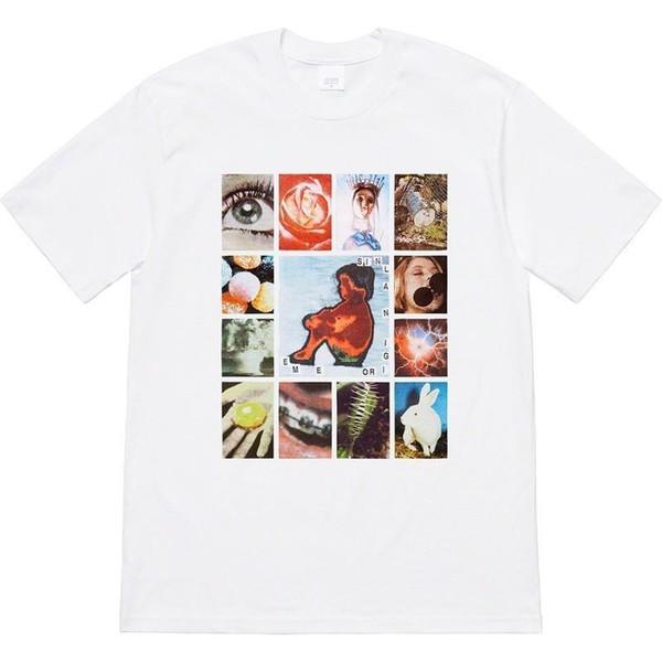 pecados originais 19SS Box Logo Tee Tops Cor Rua Skate Comic Moda Manga Curta Casual Posto Outdoor camisetas HFTTTX118