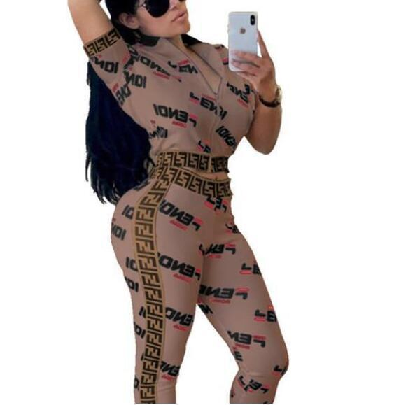 Marcas Mujeres Chaquetas + pantalones deportivos juego de las mujeres sudadera con cremallera chaqueta de los juegos de pantalones del chándal de dos piezas de ropa Setwo Sets89